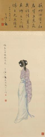 Huang Huanwu (1906-1985) Beauty, hanging scroll