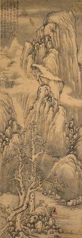 Li Jian (1747-1799) Winter Landscrcape, hanging scroll