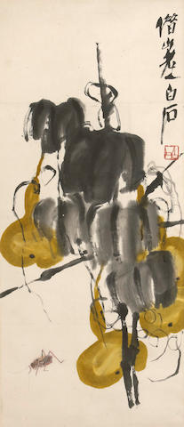 Qi Baishi (1863-1957) Yellow Gourds and Cricket