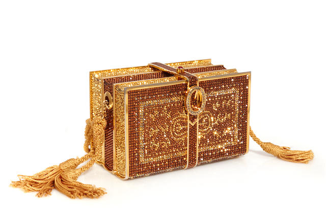 A Judith Leiber crystal 'Books' minaudiere