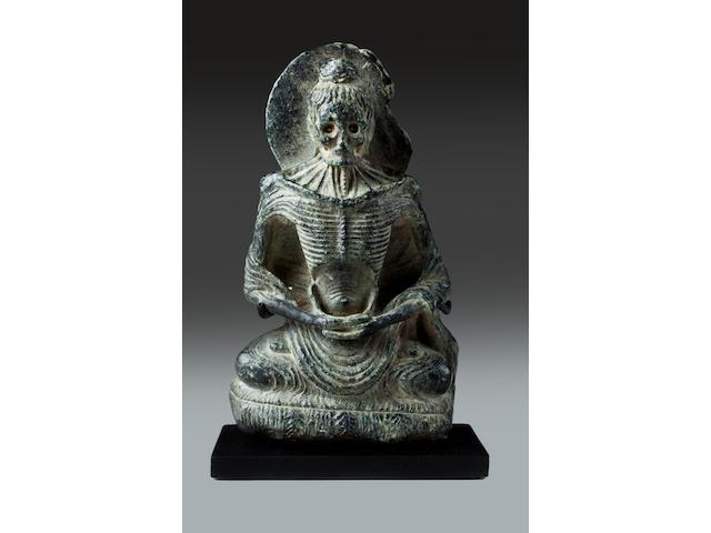 Black stone emaciated Buddha, Gandhara, 2nd/3rd century
