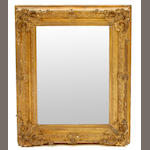A Louis XV style giltwood and gesso mirror