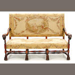 A Baroque style needlepoint upholstered settee
