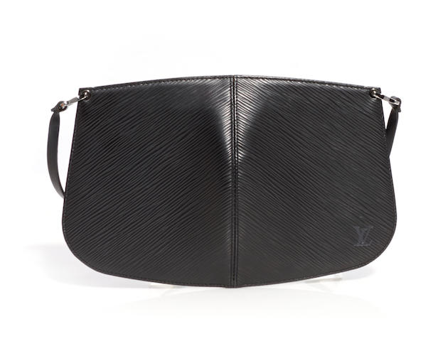 A Louis Vuitton black Epi Demi Lune pochette