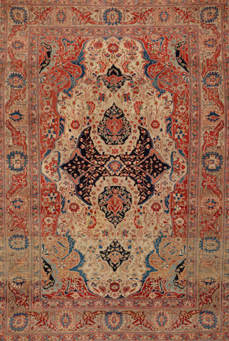 A Mohtasham Kashan rug  Central Persia size approximately 4ft. 9in. x 6ft. 7in.