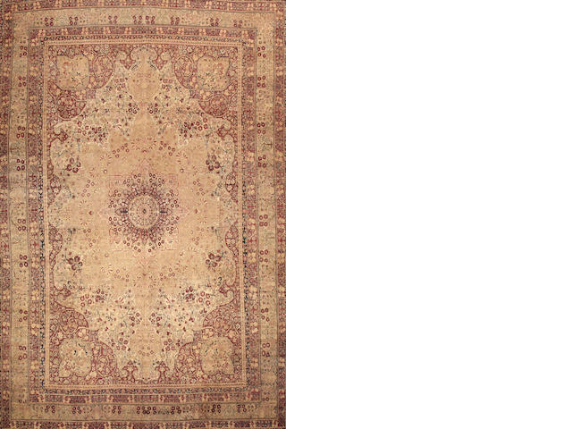 A Lavar Kerman carpet  South Central Persia size approximately 12ft. 2in. x 18ft. 2in.