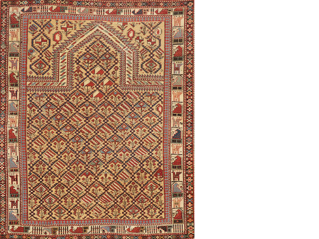 A Marsali Shirvan rug  Caucasus size approximately 3ft. 10in. x 4ft. 8in.