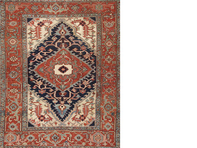 A Serapi rug  Northwest Persia size approxmitely 5ft. 5in. x 6ft. 7in.