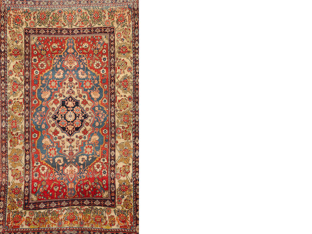 A Mohtasham Kashan rug  Central Persia size approximately 4ft. 5in. x 7ft. 5in.