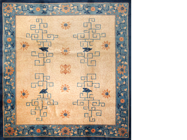 A Chinese carpet  China  size approximately 11ft. x 11ft. 10in. China  size approximately 11ft. x 11ft. 10in.