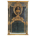 An Italian Rococo style giltwood trumeau mirror <BR /> fourth quarter 19th century