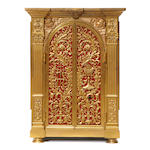 An Italian Neoclassical style gilt bronze tabernacle cabinet <BR /> late 19th/early 20th century