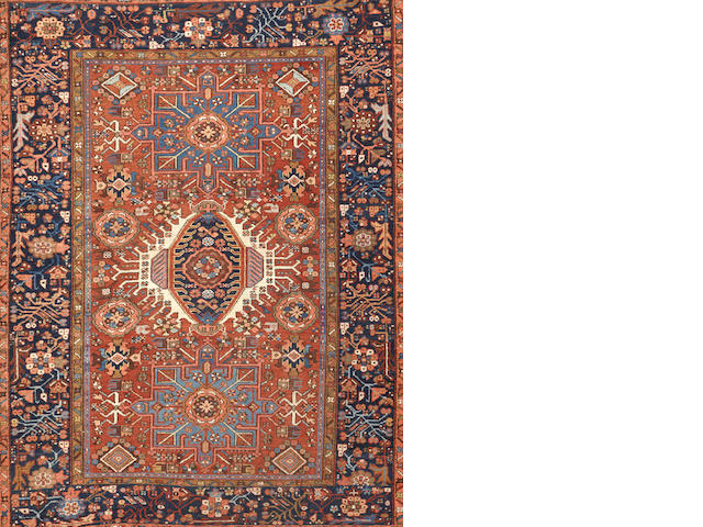 A Karadja rug  Northwest Persia size approximately 4ft. 7in. x 5ft. 11in.