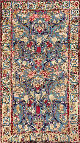 A Theran rug Central Persia size approximately 4ft. 5in. x 8ft. 3in.