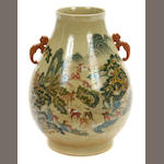 A large Chinese polychrome vase