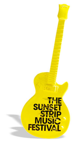 Sunset Strip Music Festival Autographed Guitar