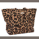 An Isabella's Journey leopard print tote and garment bag