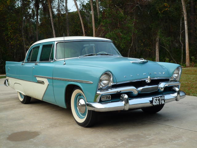 From the Estate of William A.C. Pettit, III and in the Pettit Family from new,1956 Plymouth Belvedere P-28 Sport Sedan  Chassis no. 14198953