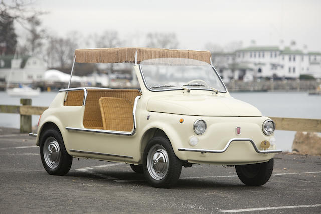 Confirmed by the Registro Storico Fiat and Carrozzeria Ghia Club Italia,1969 FIAT 500 Jolly Beach Car  Chassis no. 2347428