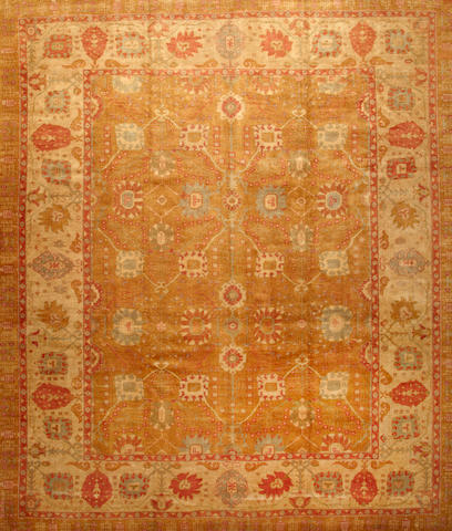 A Contemporary Oushak carpet  West Anatolia size approximately 12ft. 4in. x 14ft. 5in.