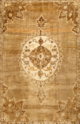 A Turkish carpet  Turkey size approximately 7ft. 7in. x 11ft. 8in.