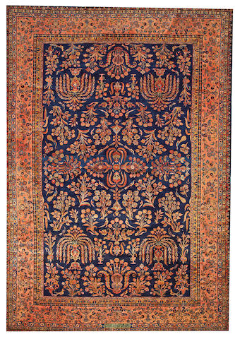 A Kashan carpet  Central Persia size approximately 10ft. 6in. x 15ft. 8in.