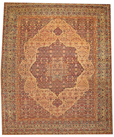 A Lavar Kerman carpet  South Central Persia size approximately 13ft. 10in. x 16ft. 8in.