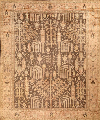 An Oushak carpet  West Anatolia size approximately 9ft. 5in. x 11ft.