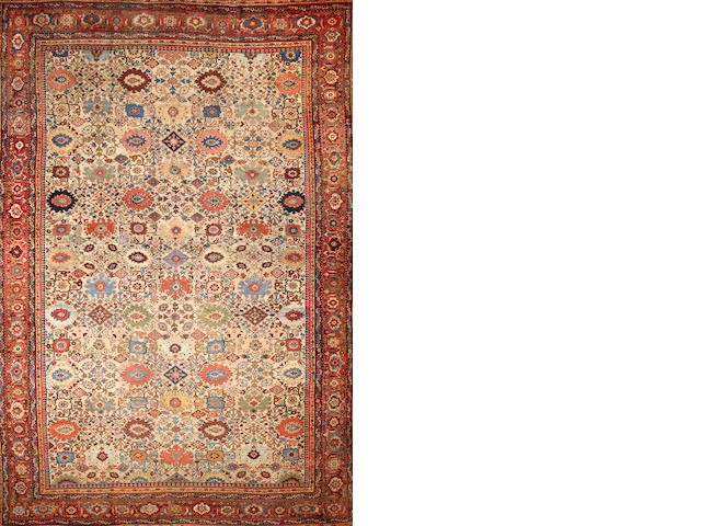 A Sultanabad carpet  Central Persia size approximately 12ft. 7in. x 18ft. 2in.