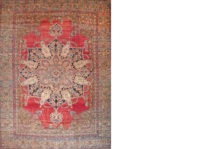 A Lavar Kerman carpet  South Central Persia size approximately 15ft. x 20ft.