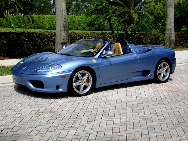 9,200 miles from new,2003 Ferrari 360 Spider  Chassis no. 3FFYT53A830134238