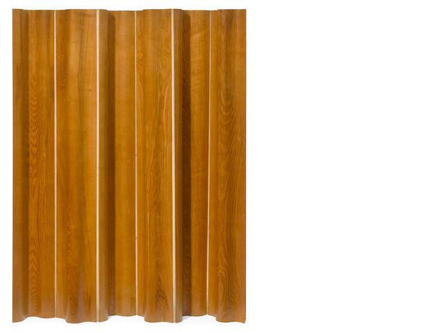 """A Charles Eames """"FSW-6"""" ash folding screen"""