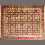 A silk Persian Soumak carpet size approximately 9ft. 8in. x 12ft. 8in.