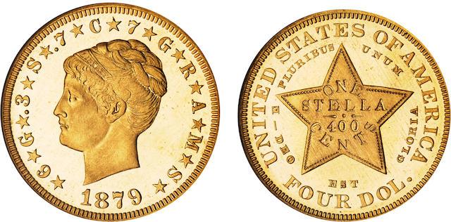 1879 $4 Stella Coiled Hair Cameo PF-67 NGC