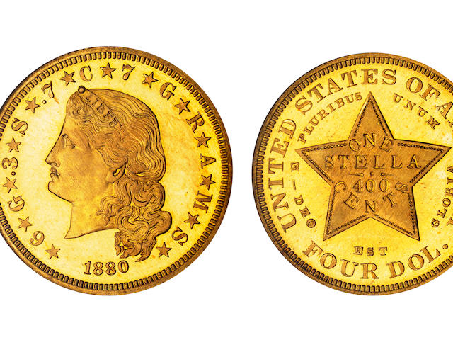 1880 $4 Stella Flowing Hair PF-67 NGC