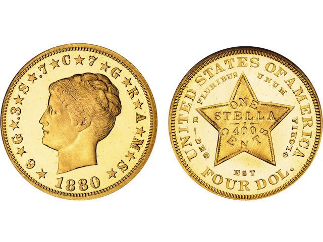 1880 $4 Stella Coiled Hair Cameo PF-67 NGC