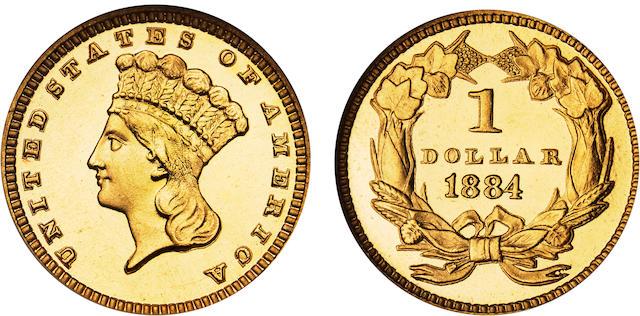 1884 $1 Type 3 Cameo PF-68 NGC