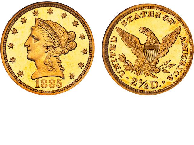 1885 $2.5 Cameo PF-68 NGC