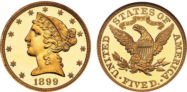 1899 $5 Ultra Cameo PF-68★ NGC