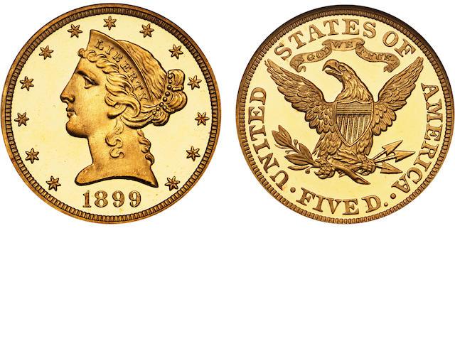1899 $5 Ultra Cameo PF-68 NGC