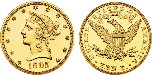 1905 $10 Cameo PF-67 NGC