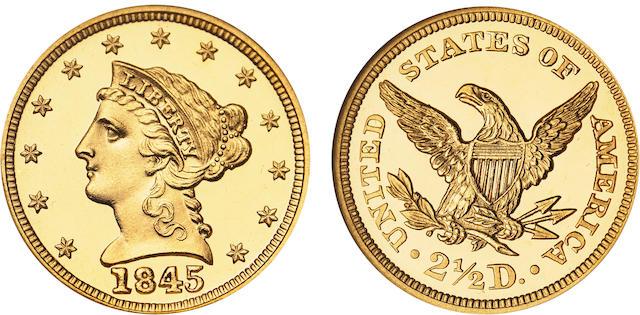 1845 $2.5 PF-67â605 Cameo NGC