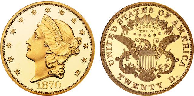 1870 $20 Ultra Cameo PF-67 NGC
