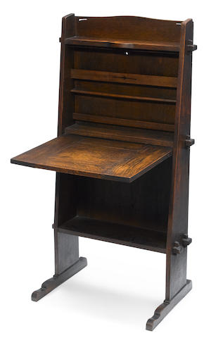 A Gustav Stickley oak Chalet desk model 505, circa 1902