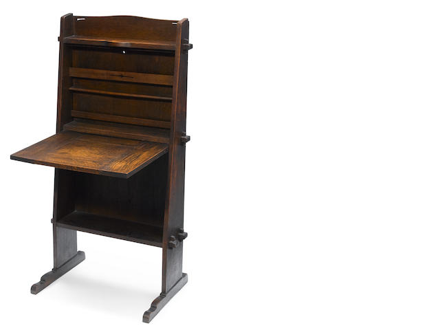 A Gustav Stickley oak chalet desk, model 505 circa 1902