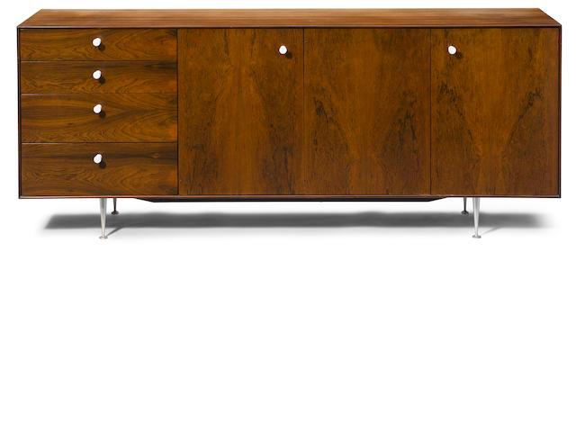 A George Nelson thin edge rosewood credenza