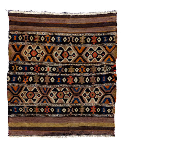 A Caucasian kilim size approximately 4ft. x 4ft.
