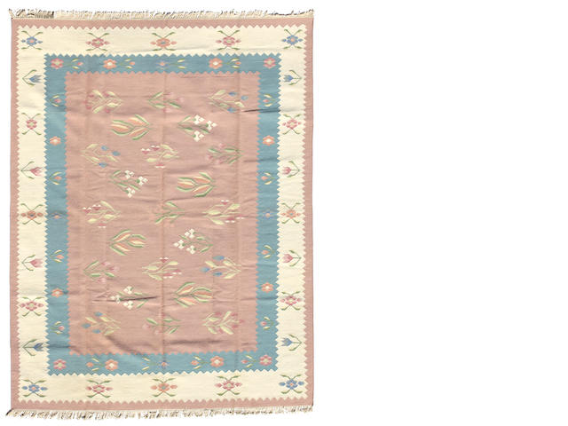 An Indian Dhurrie size approximately 8ft. 10in. x 12ft. 2in.