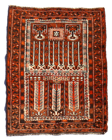 A Belouch rug  size approximately 2ft. 5in. x 3ft. 4in.