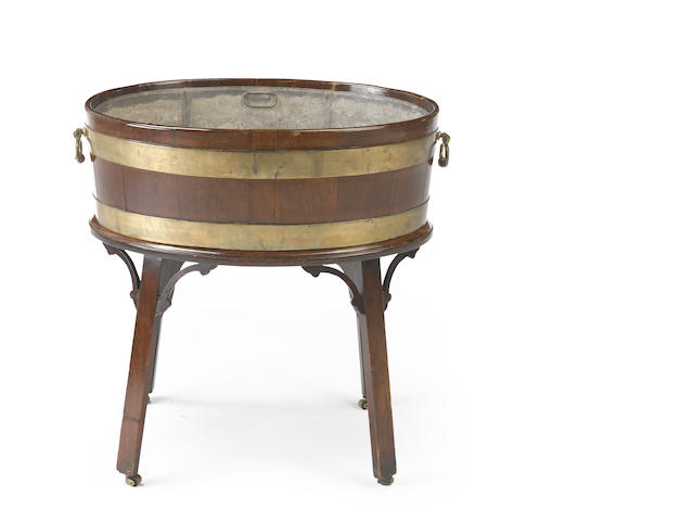 A George III mahogany wine cooler<BR />third quarter 18th century